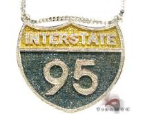 I-95 (Interstate) Pendant Diamond Pendants