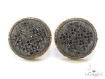 Micro-Pave Black Diamond Earrings 35536 Stone