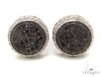 Micro-Pave Black Diamond Earrings 35537 Stone