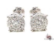 Prong Diamond Earrings 35549 Stone
