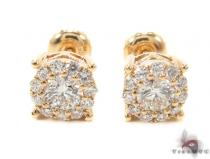 Prong Diamond Earrings 35555 Stone