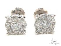 Prong Diamond Earrings 35588 Mens Diamond Earrings