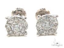 Prong Diamond Earrings 35588 Stone