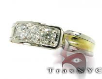 Two Tone 3 Stone Band Style