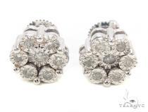 Diamond Flower Stud Earrings 35656 メンズ ダイヤモンドイヤリング ピアス