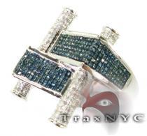 Blue Scroll Ring Mens Diamond Rings