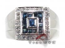 Sapphire Block Ring ジェムストーン ダイヤモンド リング