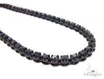Prong Black Diamond Chain 26 Inches 4mm 64.70 Grams ブラック ダイヤモンド チェーン