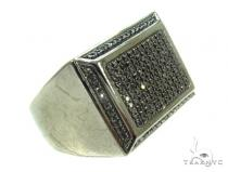 Prong Black Diamond Ring 35848 Mens Black Diamond Rings