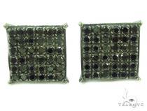 Prong Black Diamond Earrings 35854 Black Diamond Earrings