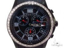 Mens Gucci Black Timeless Chrono Diamond Watch Gucci グッチ