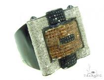 Prong Diamond 10K Gold Ring 36028 Mens Diamond Rings