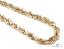 Yellow Gold Rope Chain 22 Inches 5mm 55Grams Gold