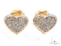 Prong Diamond Silver Earrings 36104 Metal