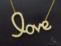 CZ Silver Love Necklace 36114 Silver