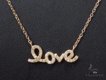 CZ Silver Love Necklace 35959 Silver