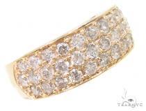 3 Row Diamond Ring 36239 メンズ ダイヤモンド リング