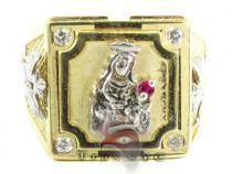 Golden Jesus Ring Metal