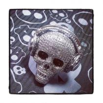 Mens Diamond Skull Ring 19931 Mens Diamond Rings