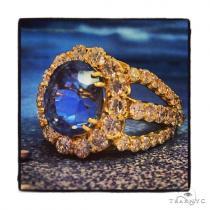 Ladies Light Blue Sapphire Ring 36328 ジェムストーン ダイヤモンド リング