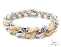 Two Tone Silver Twist Bracelet Sterling Silver Bracelets