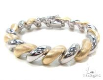 Two Tone Silver Twist Bracelet シルバー ブレスレット