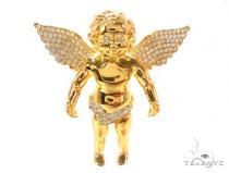 Prong Diamond Angel Pendant 36385 Diamond Pendants