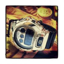 Gold Plated Casio G-Shock With Silver Case G-Shock Watches
