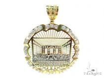 Gold Over Silver Last Supper Pendant 36444 Sterling Silver Pendants