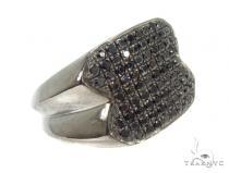 Mens Micropave Diamond Ring 36650 Mens Black Diamond Rings