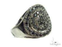 Mens Prong Diamond Ring 36655 Mens Black Diamond Rings