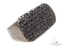 Mens Micropave Diamond Ring 36658 Mens Black Diamond Rings