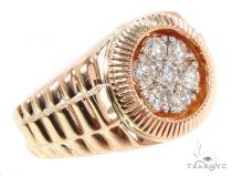 Rose Gold Timepiece Solitaire Band メンズ ダイヤモンド リング