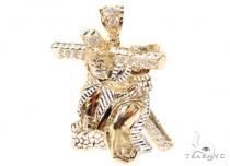 CZ 10K Gold Jesus Pendant 36778 ゴールド ペンダント