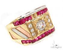 CZ 10K Gold Ring 36785 メンズ ゴールド リング