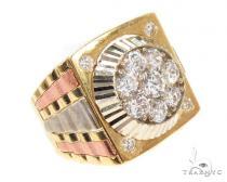CZ 10K Gold Ring 36787 Mens Gold Rings
