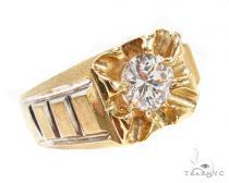 CZ 10K Gold Ring 36788 メンズ ゴールド リング