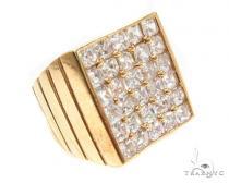CZ 10K Gold Ring 36789 Mens Gold Rings