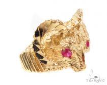 CZ 10K Gold Ring 36793 Mens Gold Rings