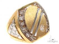 CZ 10K Gold Ring 36801 メンズ ゴールド リング