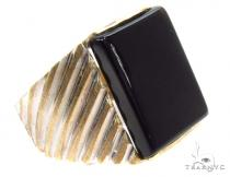 10K Gold Ring 36804 Mens Gold Rings