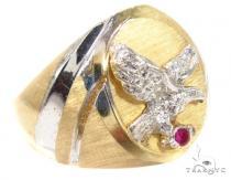 CZ 10K Gold Ring 36805 メンズ ゴールド リング