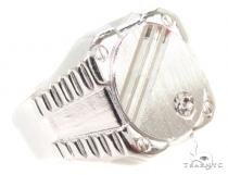 CZ Silver Ring 36809 Mens Silver Rings
