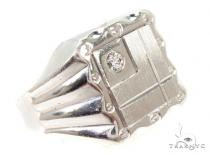 CZ Silver Ring 36810 Mens Silver Rings