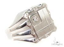 CZ Silver Ring 36810 メンズ シルバー リング