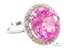 Pink Topaz Diamond Silver Ring 36824 レディース シルバーリング