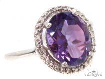 Amethyst Diamond Silver Ring 36825 ジェムストーン ダイヤモンド リング