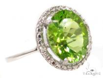 Green Gemstone Diamond Silver Ring 36828 レディース シルバーリング