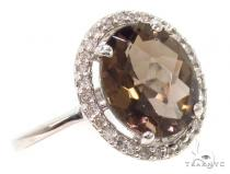Brown Gemstone Diamond Silver Ring 36829 レディース シルバーリング