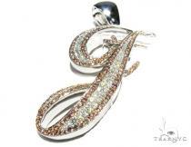 Pink J Pendant Diamond Pendants
